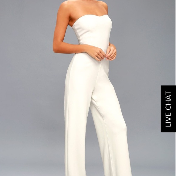 abaa032c0ab Edith White strapless jumpsuit from lulu s